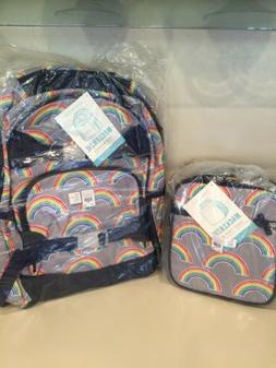 Pottery Barn Kids Gray Neon Rainbow Large Backpack And Lunch