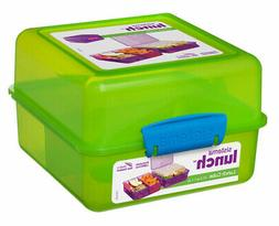 Sistema Green 3 Compartment Klip It 1.4L Lunch Cube Box Cont