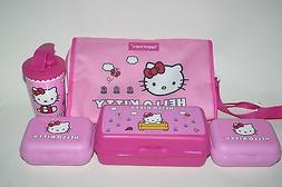 TUPPERWARE HELLO KITTY Lunch Solutions Set Pink Bag Sandwich