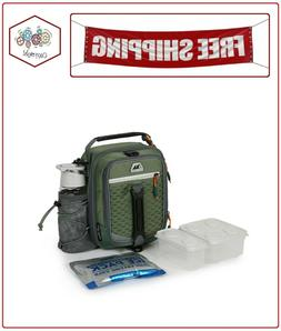 Arctic Zone High-Performance Dual-Compartment Lunch Box Gree