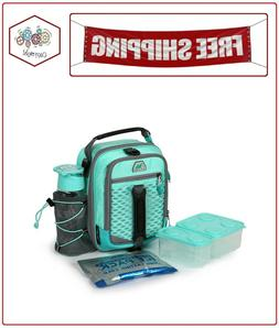 high performance dual compartment lunch box teal
