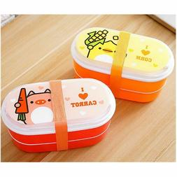 High Quality Cartoon Healthy Plastic Lunch Box 600ml Bento B