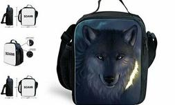 HUGS IDEA Cool Kids Insulated Lunch Bag Portable Thermal Lun