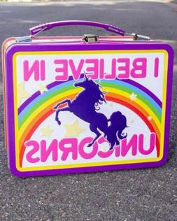 I Believe In Unicorns Tin Carry All Lunchbox Novelty Colourf