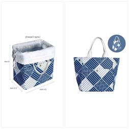 Inroserm Reusable Printed Lunch Bag Organic Cotton Insulated