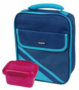 Sistema Insulated Blue Lunch Cooler with 1 Pink 400ml Storag