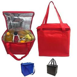 Insulated Cooler Lunch Box Bag With Foil Lining Water Drinks