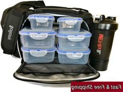 Meal Prep Lunch bag - Insulated Fit Cooler Box - Portable Ho