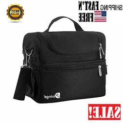Lunch Box Insulated Lunch Bag Large Cooler Tote Bag for Men,