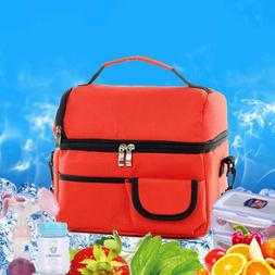 Insulated Lunch Bag Women Men Kids Thermos Cooler Adults Tot