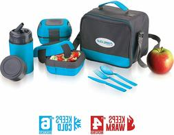Insulated Lunch Box Bag Set for Adults and Kids ~ Pinnacle I