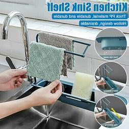 Kitchen Telescopic Sink Rack Shelf Sponge Drain Expandable S