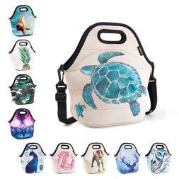 Thermal Neoprene Lunch Bags for Women Kids Office School Men