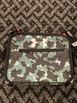Under Armour Insulated Lunch Cooler Black Green Camo Boys Lu