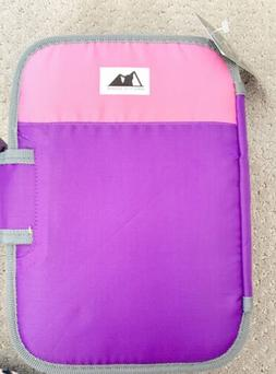 insulated purple pink lunch box with tray