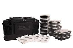 6 Meal Prep Bag Kit - Insulated Lunch Bag Cooler with 12 Reu
