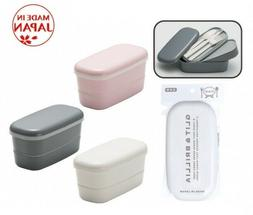 Japanese Bento Lunch Box with Chopsticks & Cutlery Set Made
