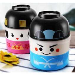 Japanese Hakoya Geisha Doll Bento Lunch Box Food Container B