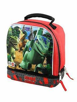 Lego Jurassic World Boys Soft Dual Compartments Insulated Sc