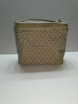 Kate Spade Out To Lunch Tote Lunch Box - Gold Zipper Polka D