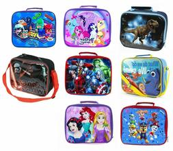 Kids Boys/Girls INSULATED LUNCH Box Pack School Food Picnic