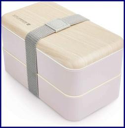 Kids Childrens Lunch Box Set 4 Compartment Leak Proof Bento