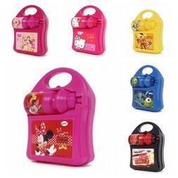 Kids Girls Boys Disney Hard Lunch Box Set with Water Drink B