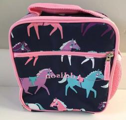 POTTERY BARN KIDS HORSES CLASSIC LUNCH BOX *ADDISON* NEW NAV