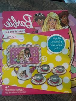 Kids Tea Set Barbie Lunch Box Tea Party Toy Pretend Play Gir