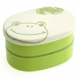 Kotobuki 2-Tiered Bento Box, Green Frog Sketch