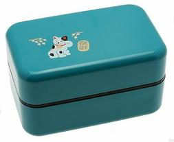 Kotobuki Snap-Lid Bento Box Bear and Hearts