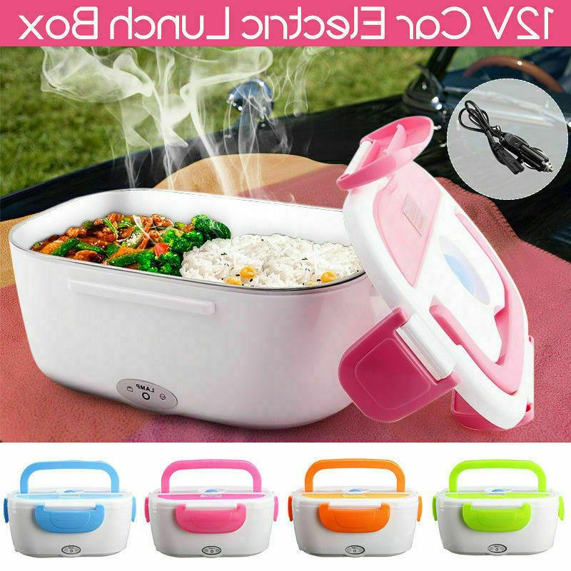 12V Electric Car Plug Lunch Box Bento Travel Food Warmer