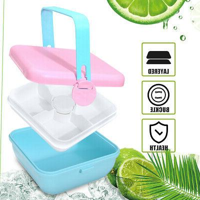 2 Layer Box Food Container Bowl Kids