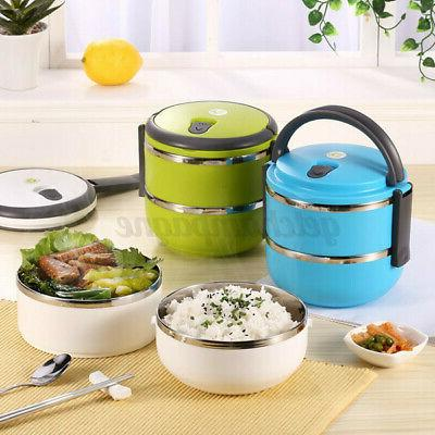 2-Layer Thermal Stainless Steel Container Bento