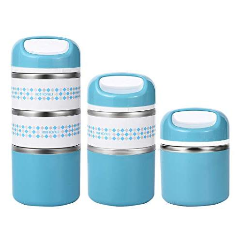 2 Lunch Containers Insulated Stay Hot Food Containers for Teens, oz,