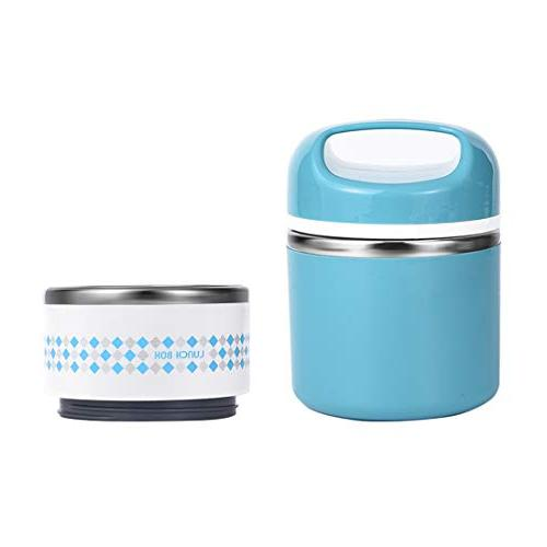 Lunch Handle, Insulated Lunch Box Hot 3-4h, Leak-proof Food Containers Work, oz, Blue
