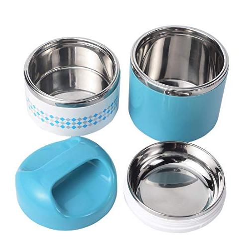 2 Lunch Insulated Box Stay Hot Containers for Adults, Teens, Work, oz,