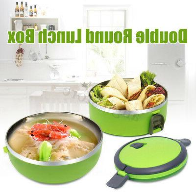 2 Thermal Insulated Lunch Bento Food