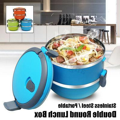 2 layers stainless steel thermal insulated lunch