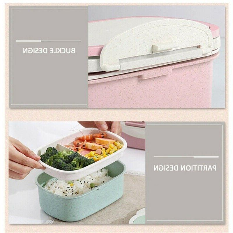 2 Lunch Wheat Microwave Lunch Handle