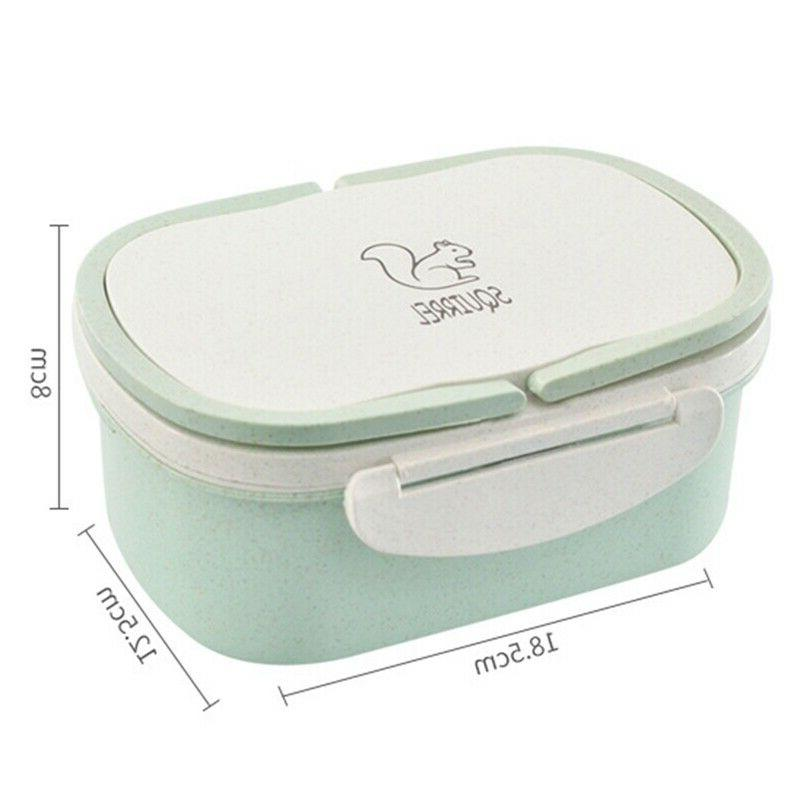2 Wheat Straw Microwave Lunch Box Container Handle