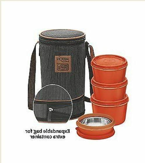 4 Containers MILTON FLEXI Stainless Steel Insulated Tiffin /