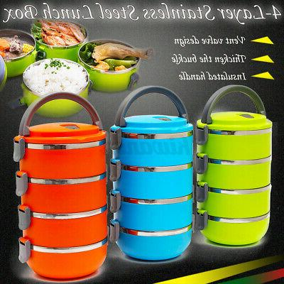 4 layers stainless steel insulated lunch box