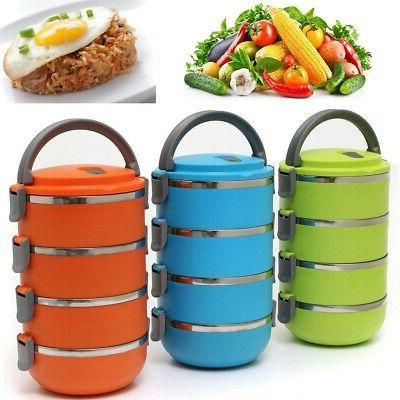 4 Stainless Food Storage Container