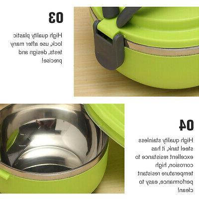 4 Stainless Insulated Bento Food Container