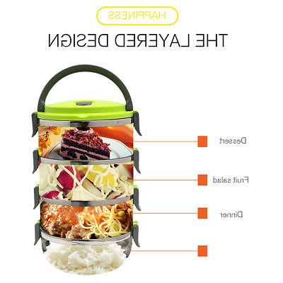 4 Stainless Insulated Food Storage Container