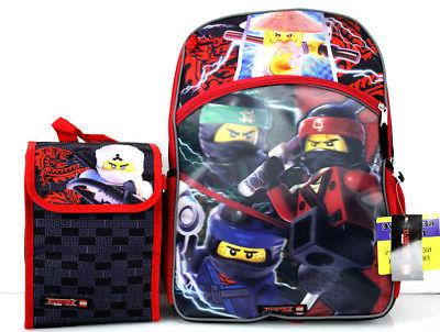 5 - Lego NINJAGO Movie BACKPACK +LUNCH Box Wallet +Pencil +Pack
