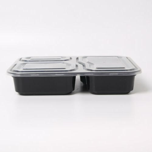 50 Food Meal Prep Compartments Reusable Box