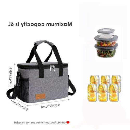 Lifewit Box Thermal Bento Bag Women