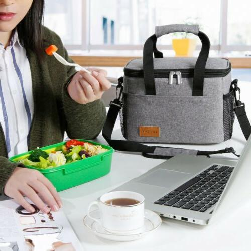 Lifewit 9L Insulated Lunch Box Lunch Bag Bento Women Gray